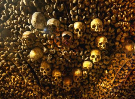 Картинки черепа, кости, Парижские катакомбы, Франция
