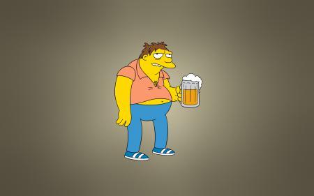 Обои Симпсоны, The Simpsons, Барнард «Барни» Гамбл, кружка