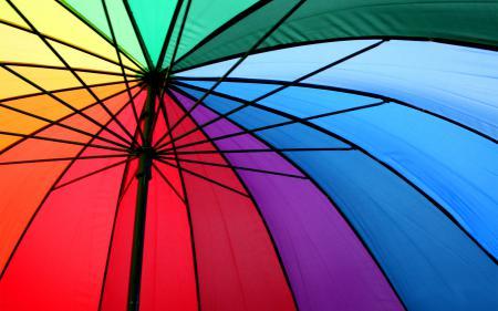 Фото зонт, спицы, металл, разноцветные