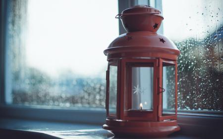 Фото лампа, окно, макро