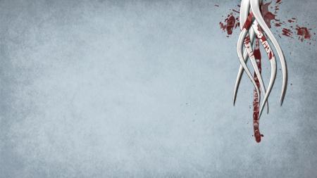 Фото щупальцы, кровь, текстура, минимализм