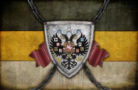 Фото флаг россии, российская империя, двуглавый орел, черно желто белый цвет