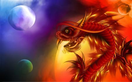 Заставки дракон, чешуя, клыки, шары
