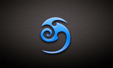 Заставки символ, знак, голубой, тёмный  фон