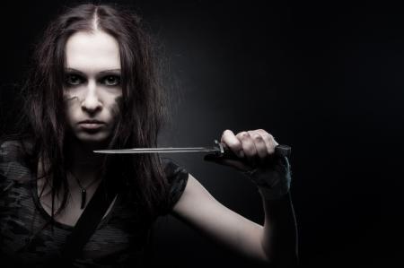 Обои The Ultimate Soldier 5, Valeria, девушка, нож