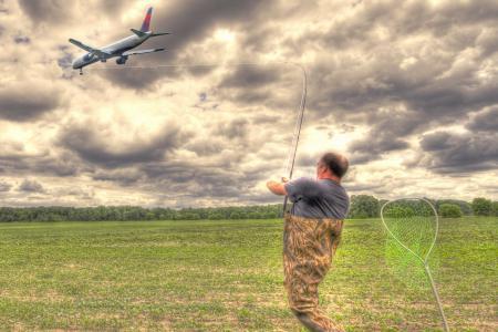 Фото Fly fishing, digital manipulation, fishing