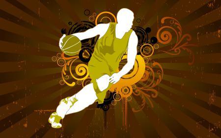 Заставки баскетбол, мяч, вектор, силуэт