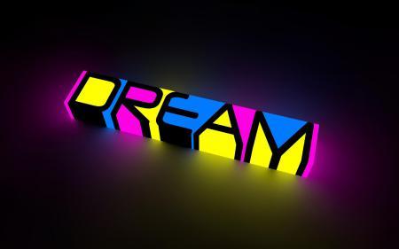 Картинки Dream, надпись, мечта, разноцветная