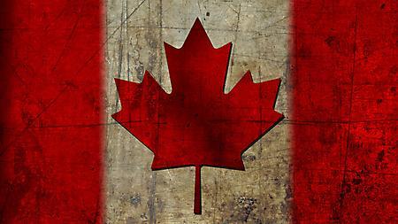 Картинки флаг Канада, лист клена, красного цвета, 1920x1080 px