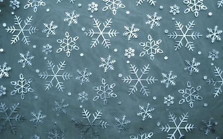 Обои снежинки, большие, маленькие