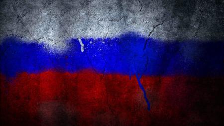 Заставки флаг россии, краски, бетонная стена, асфальт