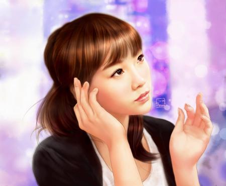 Рисунки арт, taeyeon, snsd, girls generation