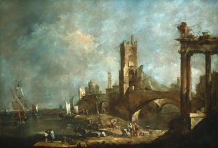Заставки francesco guardi, veduta, картина, развалины