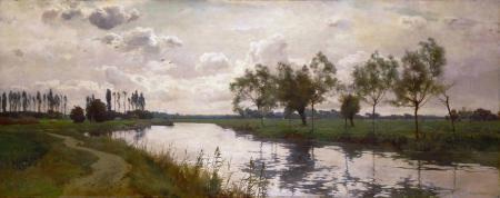 Картинки Alfred Parsons, небо, тучи, пейзаж