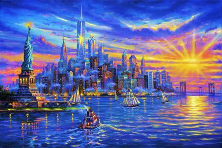 Заставки USA, New York, Statue Of Liberty, США