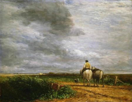 Рисунки David Cox, картина, небо, тучи