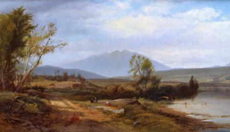 Картинки William M. Hart, картина, пейзаж, горы
