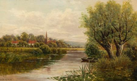 Картинки John Atkinson, Welsh River, пейзаж, река