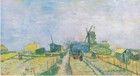 Заставки Van Gogh, Gemüsegärten auf dem Montmartre, Ван Гог, живопись