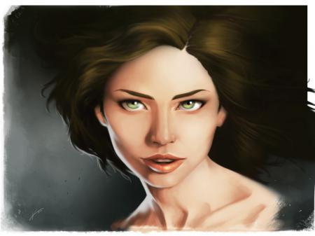 Заставки живопись, арт, девушка, взгляд