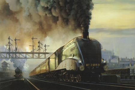 Обои Станция, поезда, вагоны, локомотив