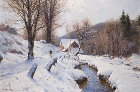 Заставки картина, пейзаж, Walter Moras, зима