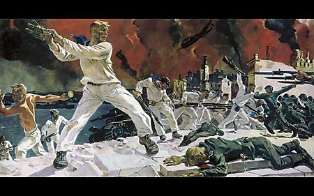 Рисунки оборона севастополя, художник А Дейнека, матросы, Отечественная война