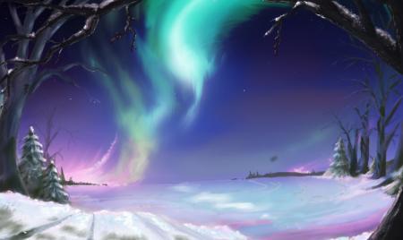 Картинки живопись, зима, снег, холод