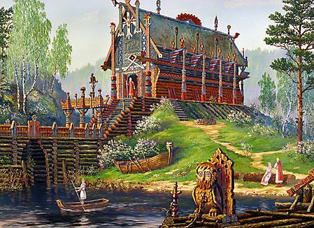 Рисунки Всеволод иванов, храм свентовида, поздняя весна