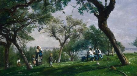Заставки Adolphe-Felix Cals, картина, природа, пикник