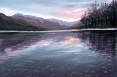 Заставки живопись, пейзаж, море, вода