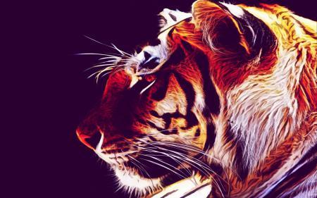 Обои тигр, обои, фон, ubuntu