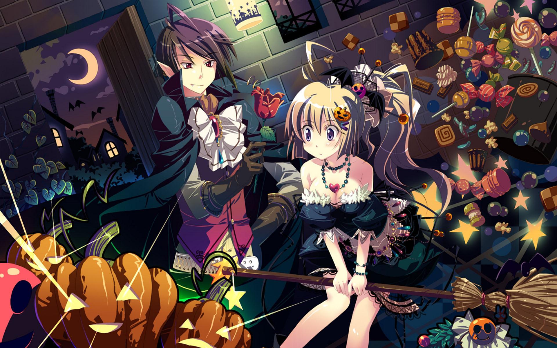Обои Halloween скачать на рабочий стол, рисунки луна