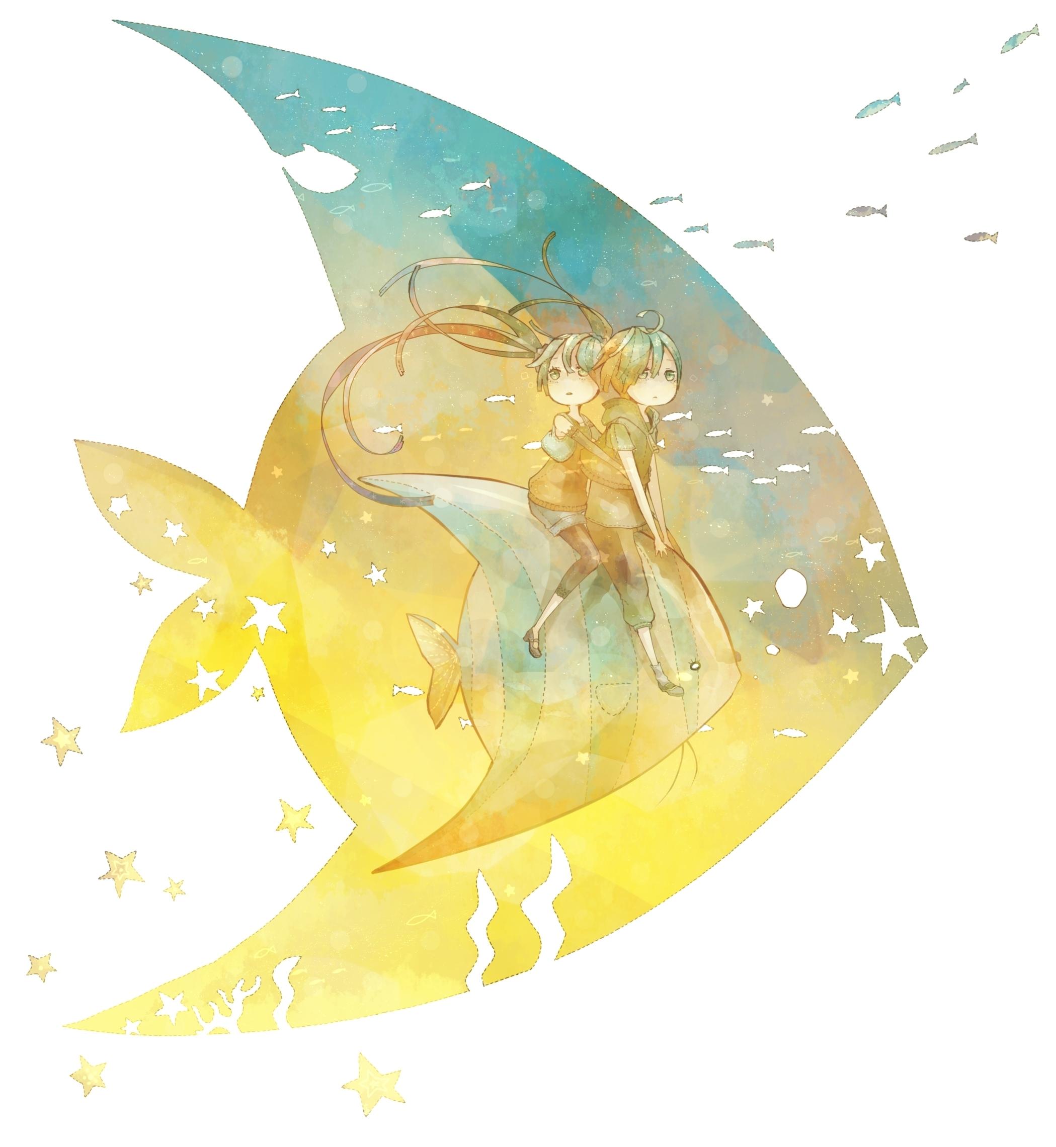 Картинки аниме скачать для рабочего стола, рисунки рыба