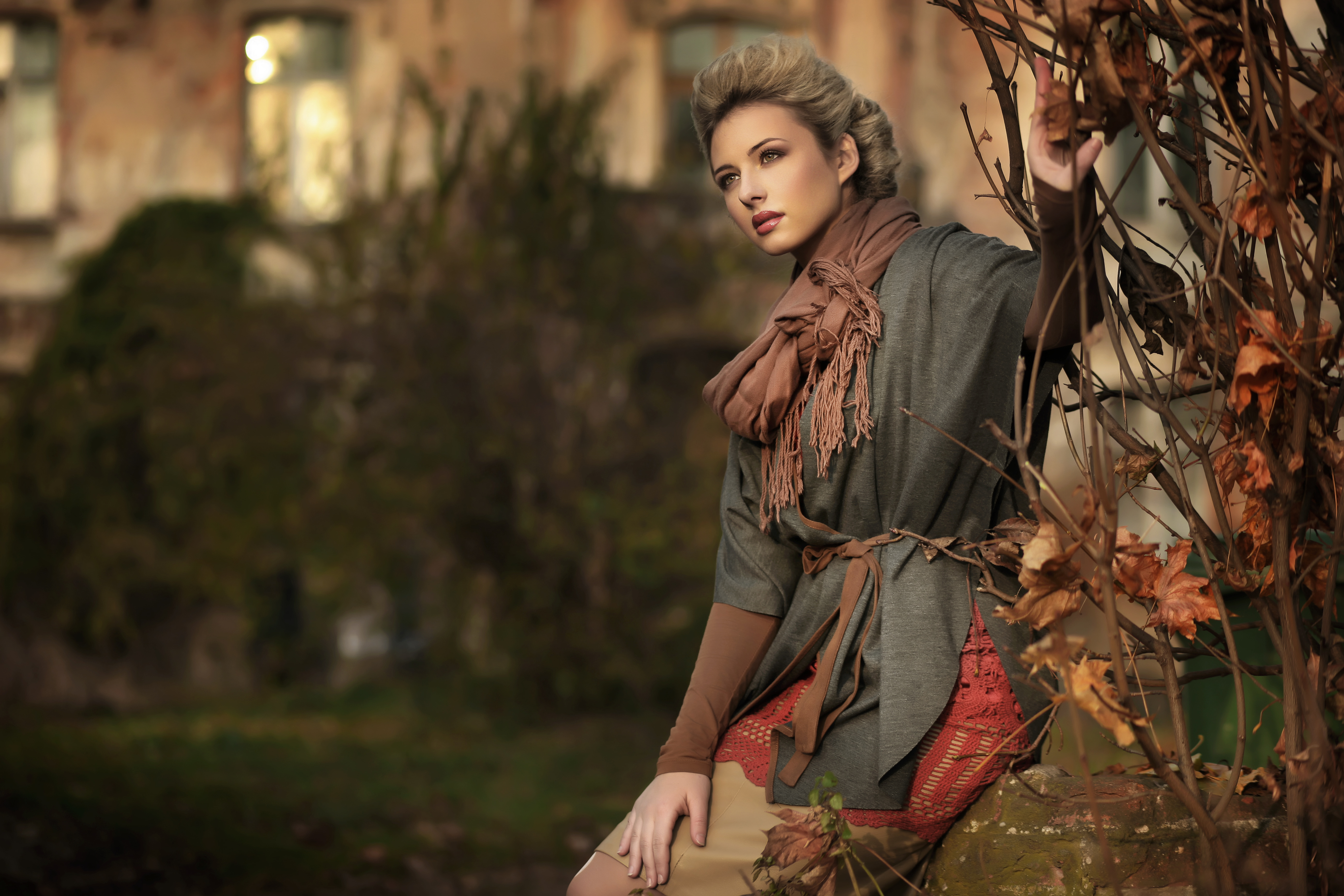 фотографии девушек осенью: