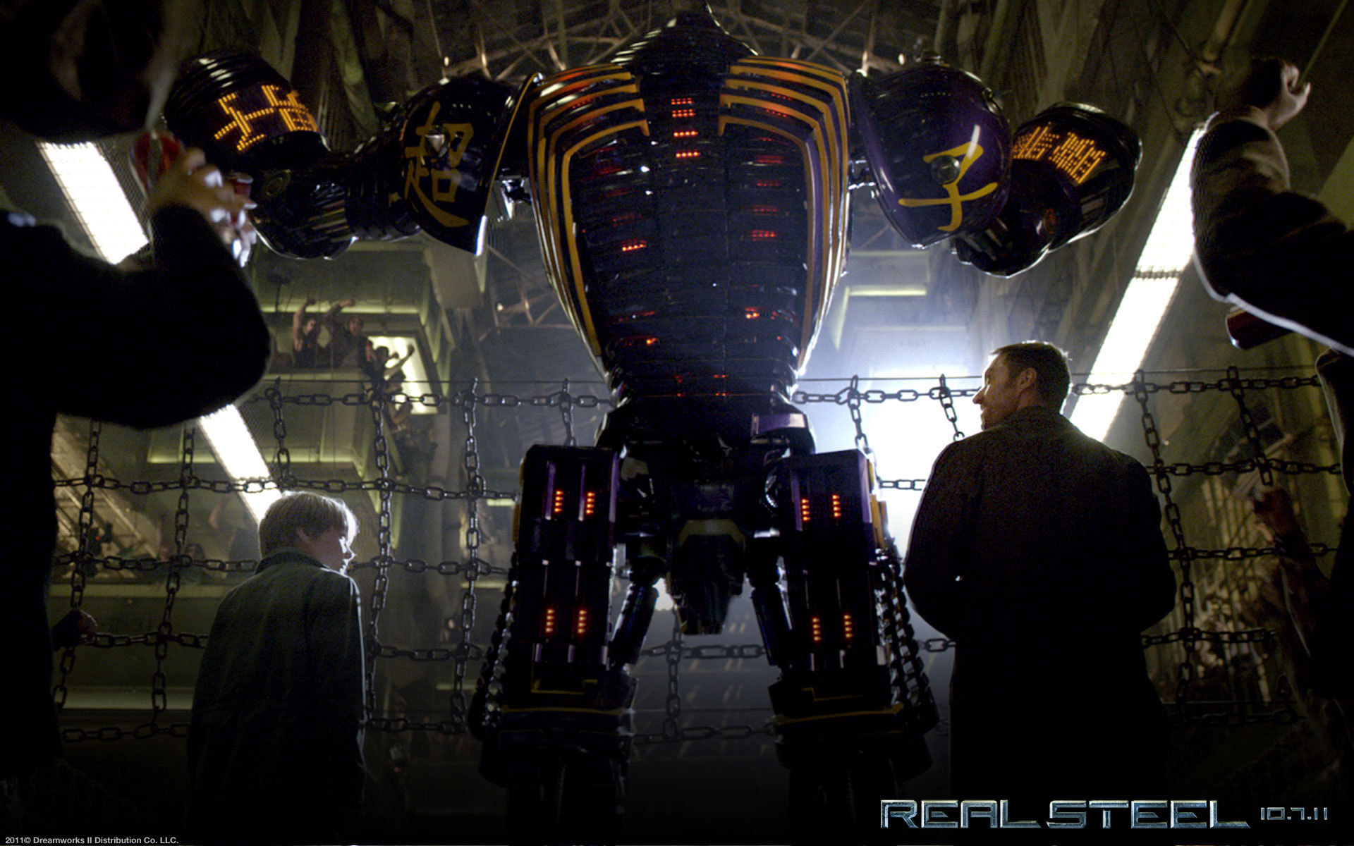 Картинки Живая сталь скачать на рабочий стол, фото Роботы