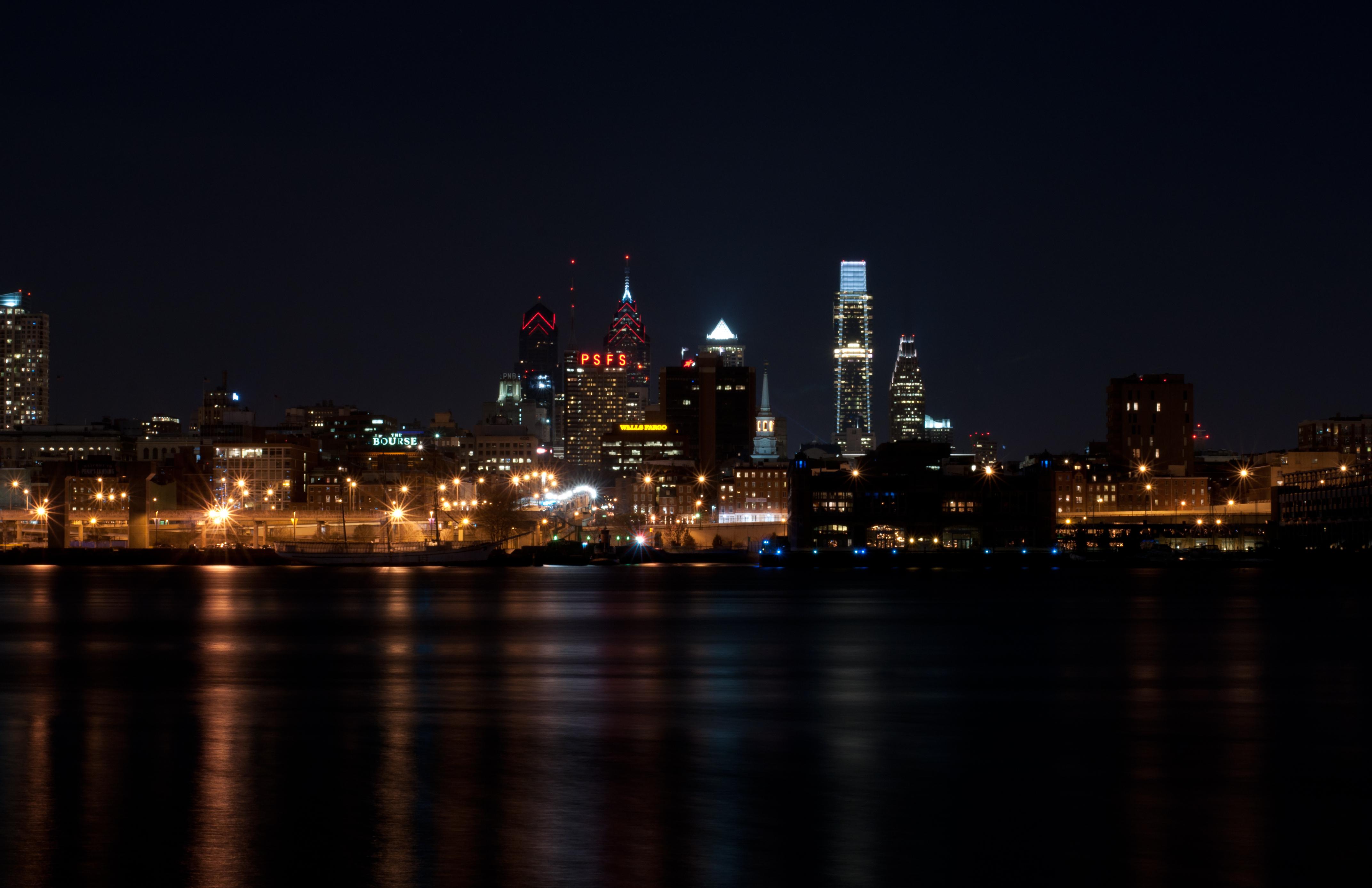 Обои филадельфия, philadelphia, ночь, сша. Города foto 18