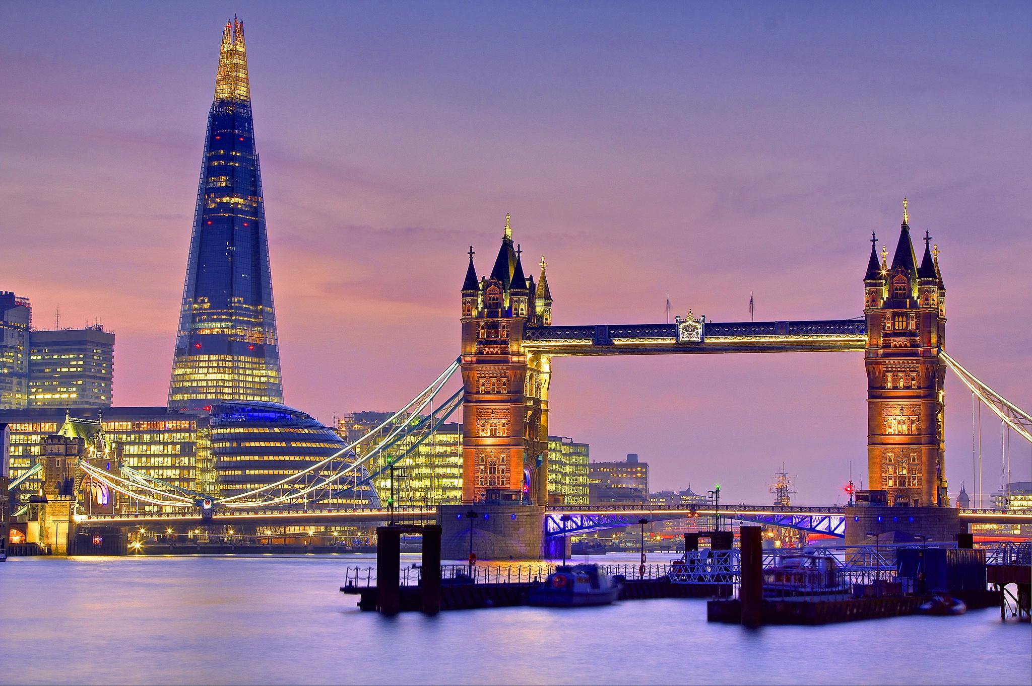 Англия лондон тауэрский мост вечер