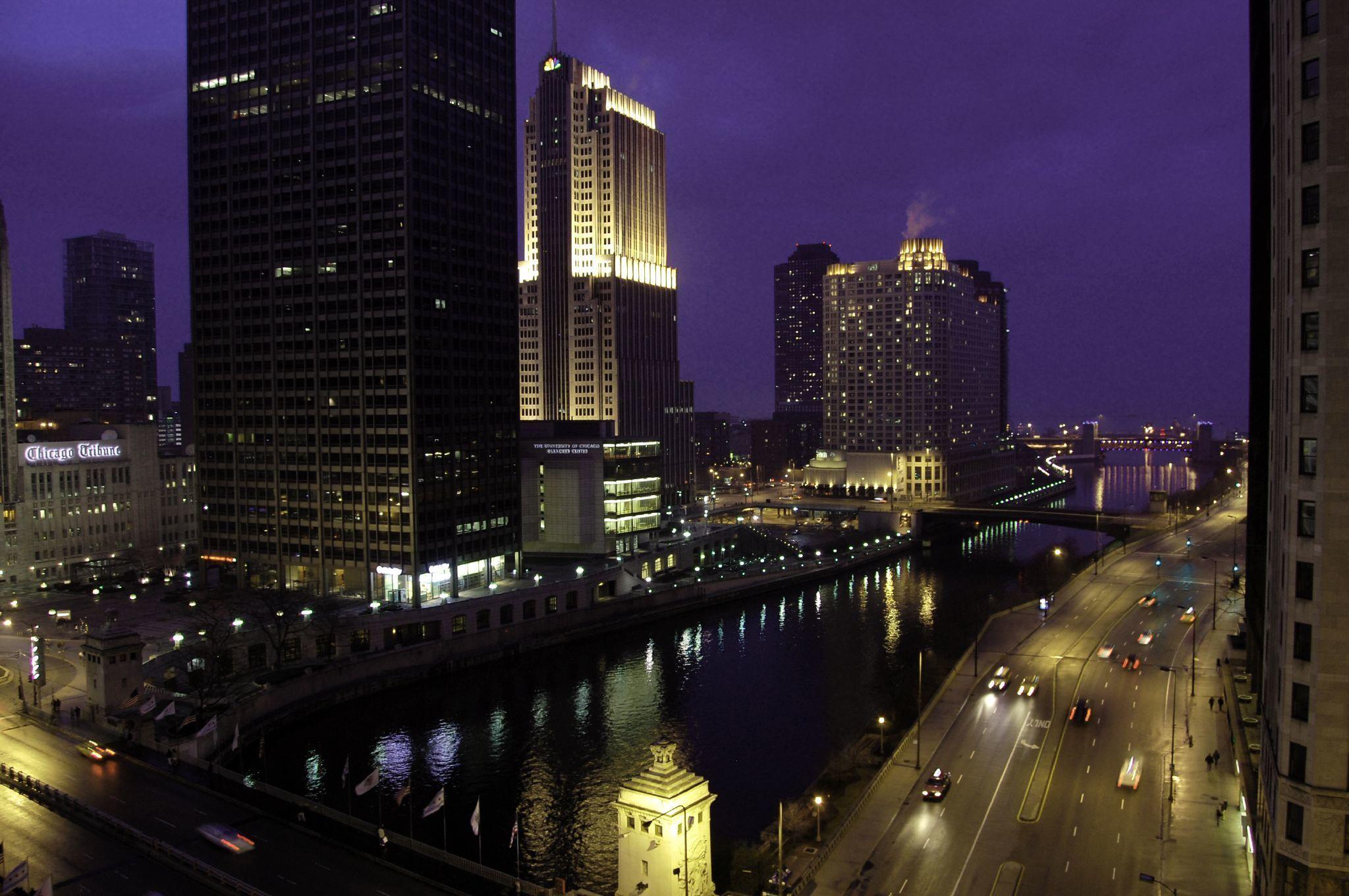 Обои чикаго, мосты, здания, chicago, сша, ночь, америка. Города foto 18