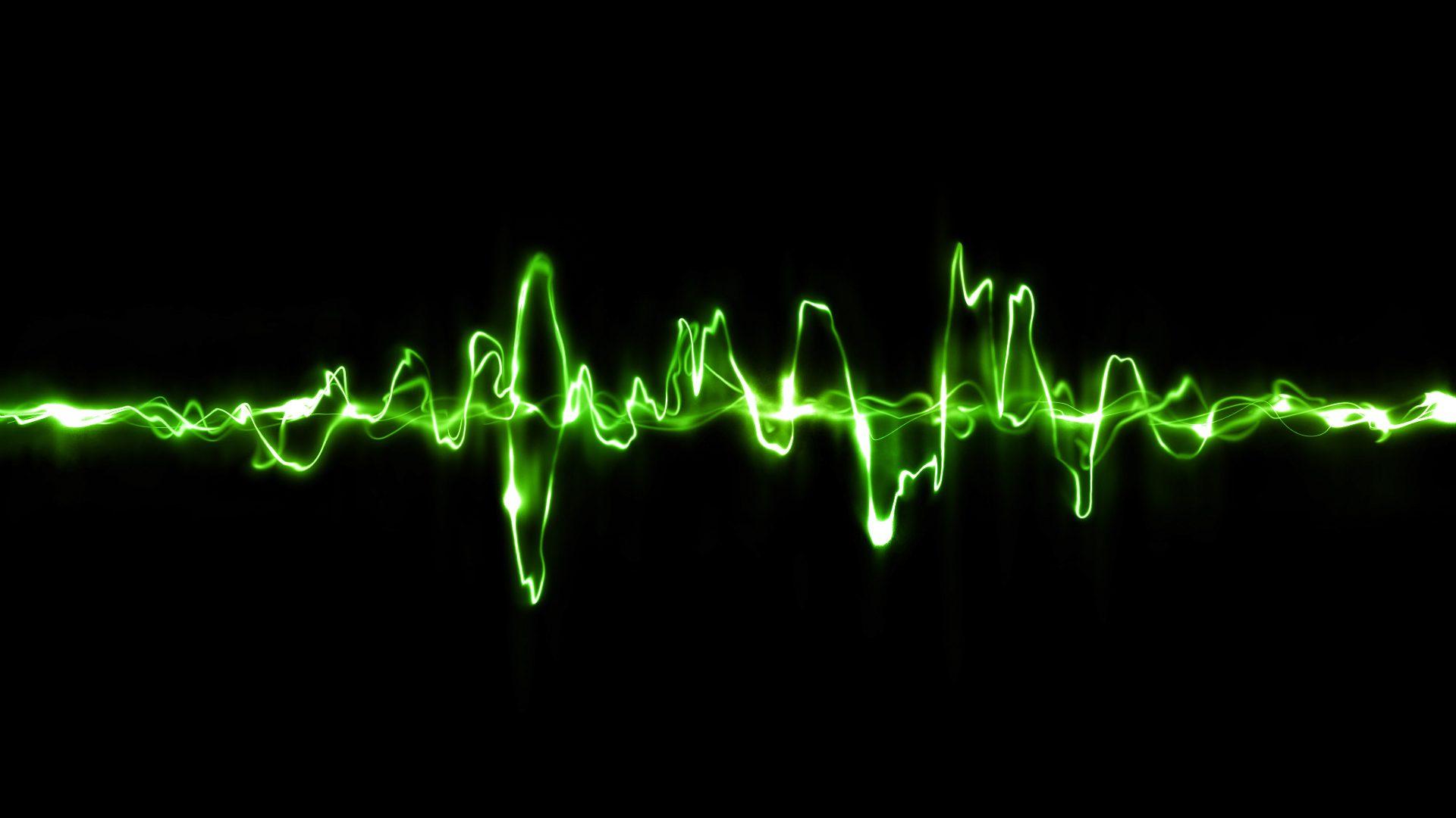 Сигнал волны неоновый цвет 1920x1080 px