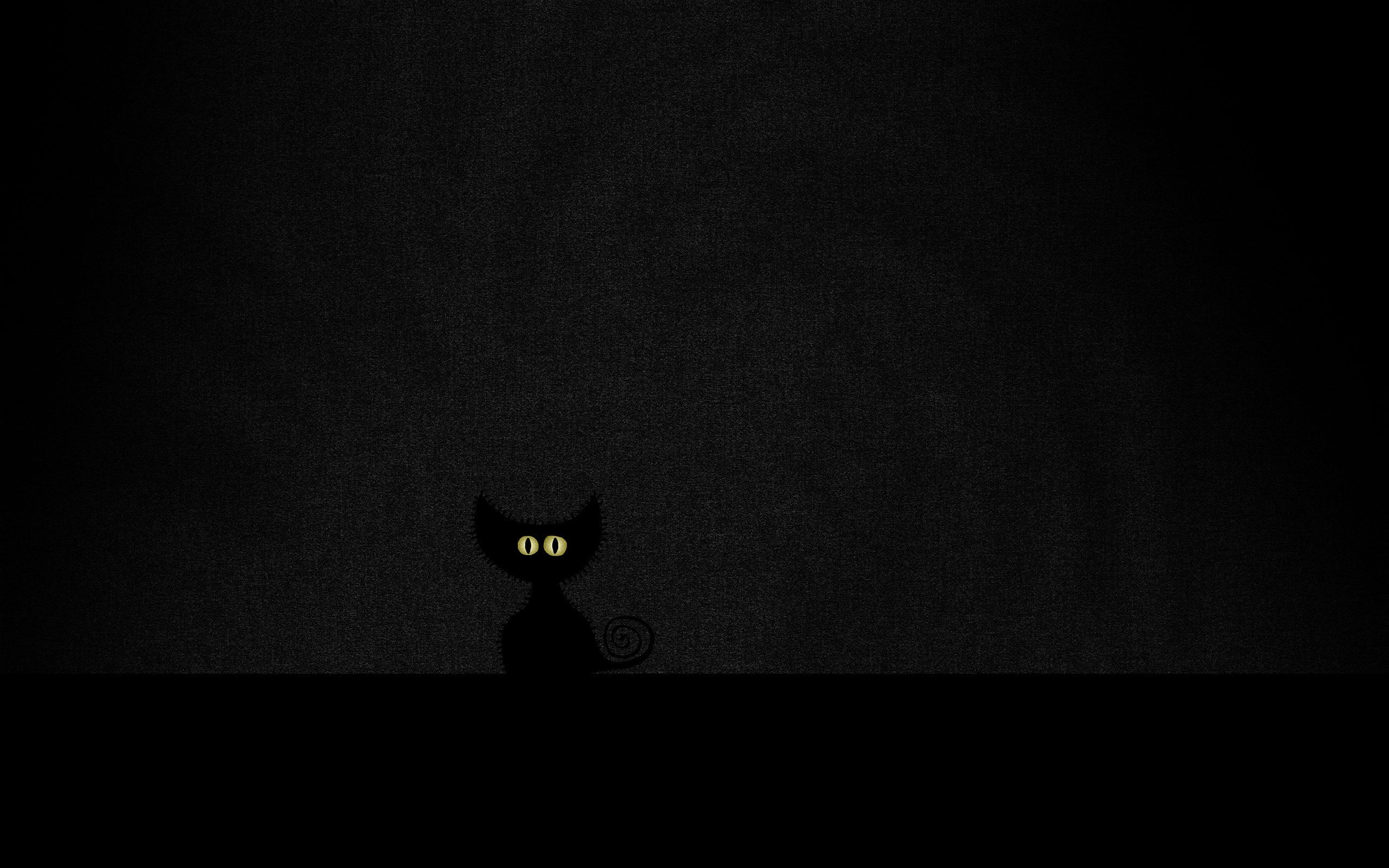 Картинки силуэт кошки желтые глаза