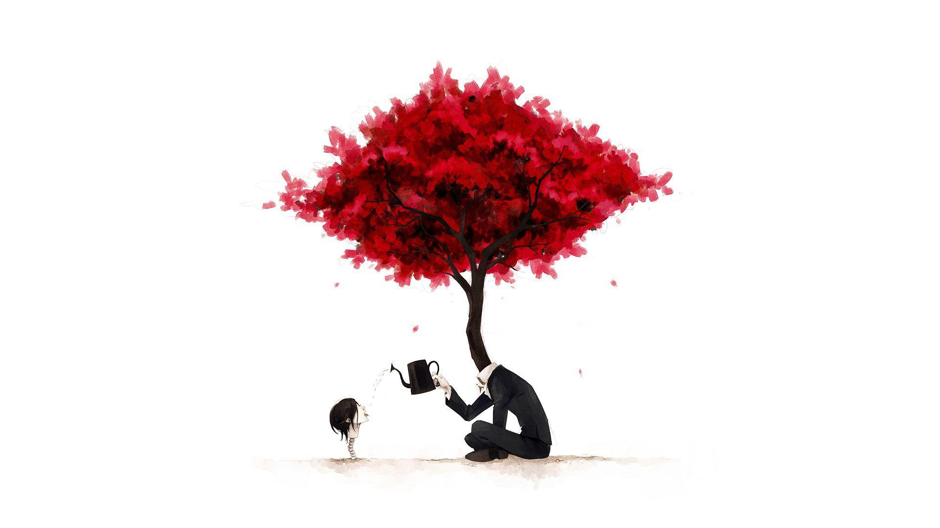 Заставки красное дерево сюрреализм