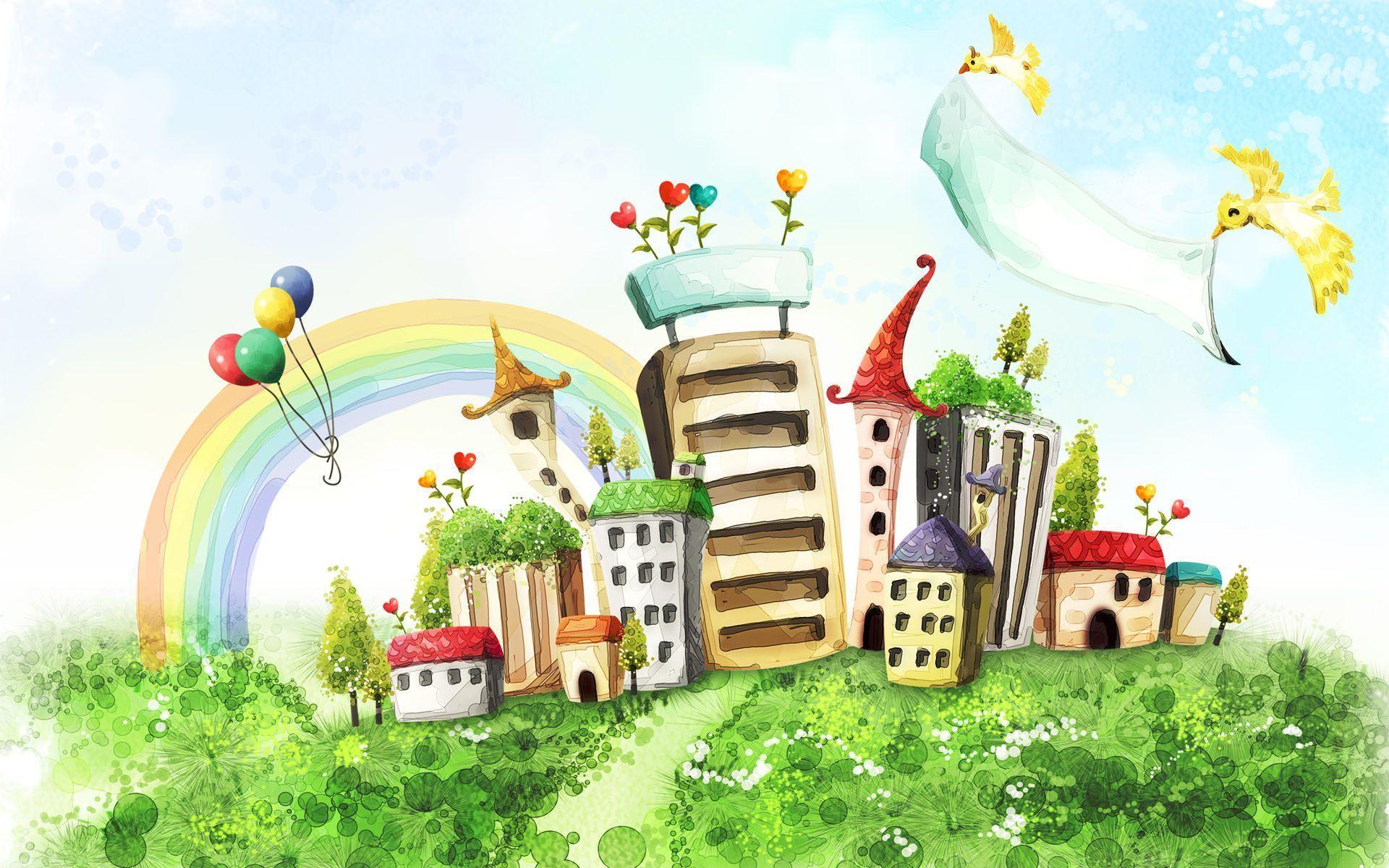 рисунки домов: