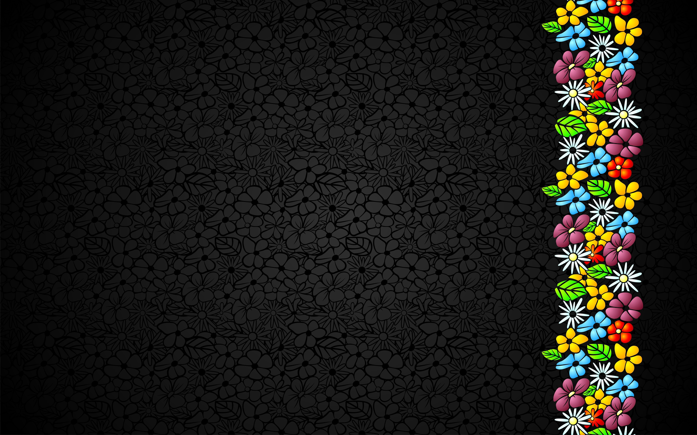 Обои черные цветы скачать для рабочего стола, заставки ...