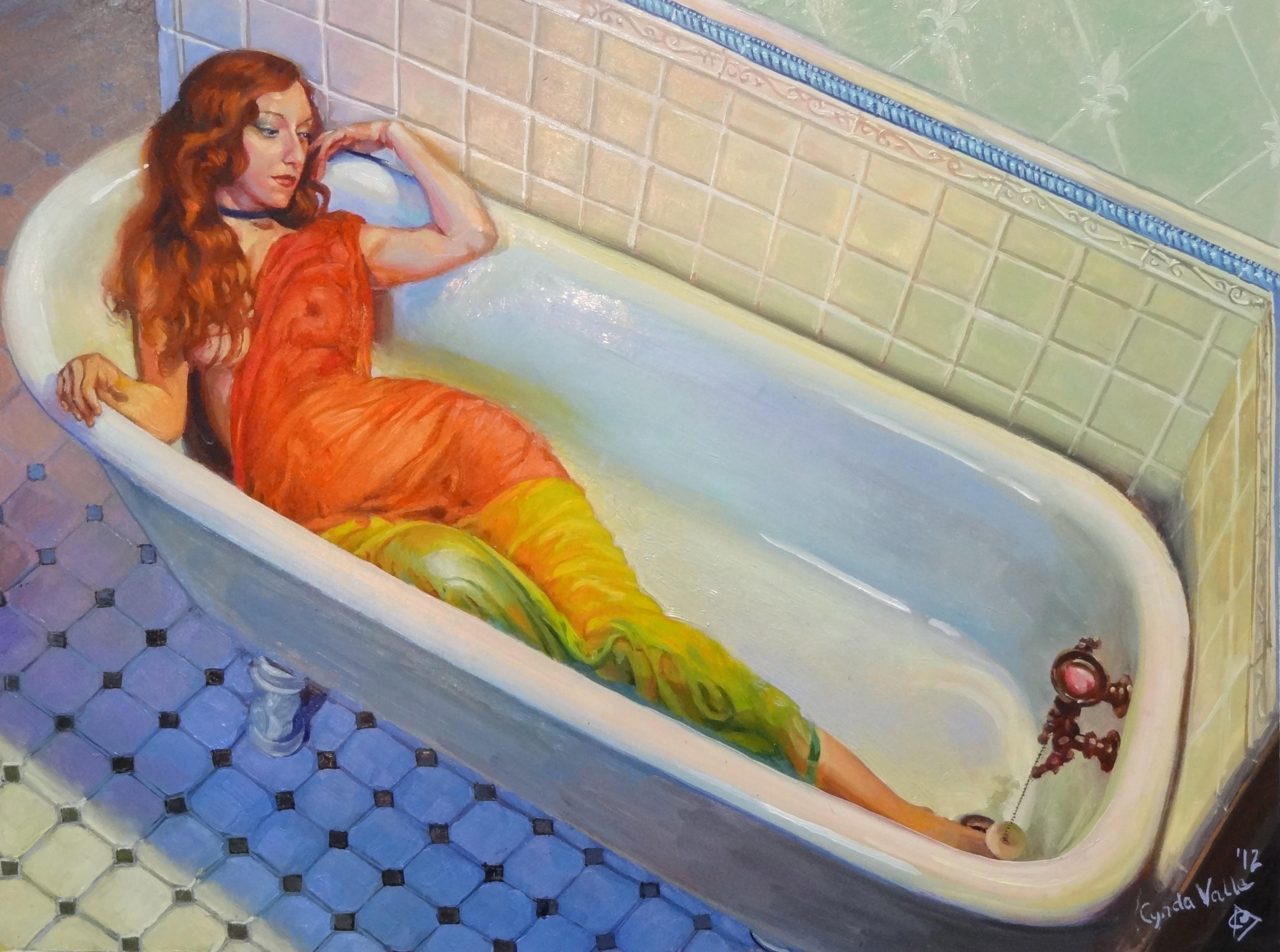Рыжая девушка в ванной фото 6 фотография