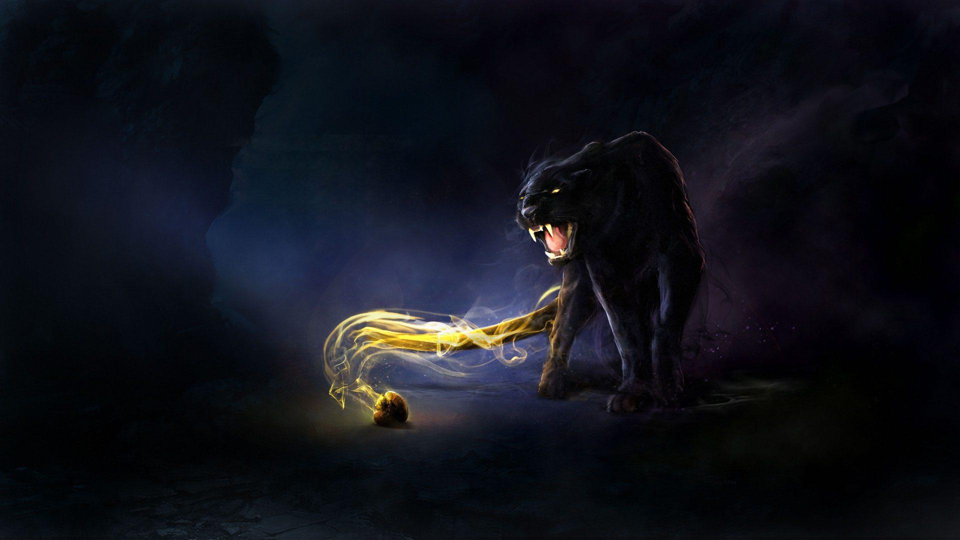 Заставки темный эльф черная пантера