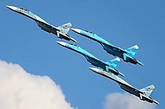 Обои Су-27 сухой, скачать заставки истребители, полёт