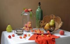 Обои груши скачать для рабочего стола, фото персики