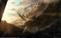 Обои CG wallpapers, Lina Carp, Totemic landscape, castle