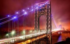 Картинки The George Washington Bridge, United States, New Jersey, Fort Lee